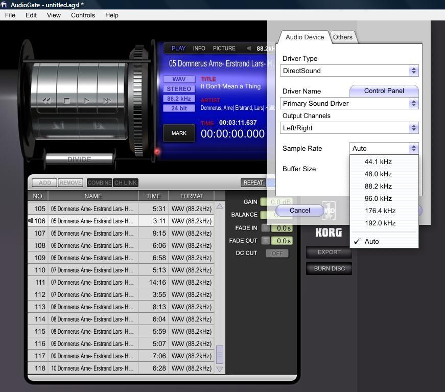 how to set windows audio to pcm