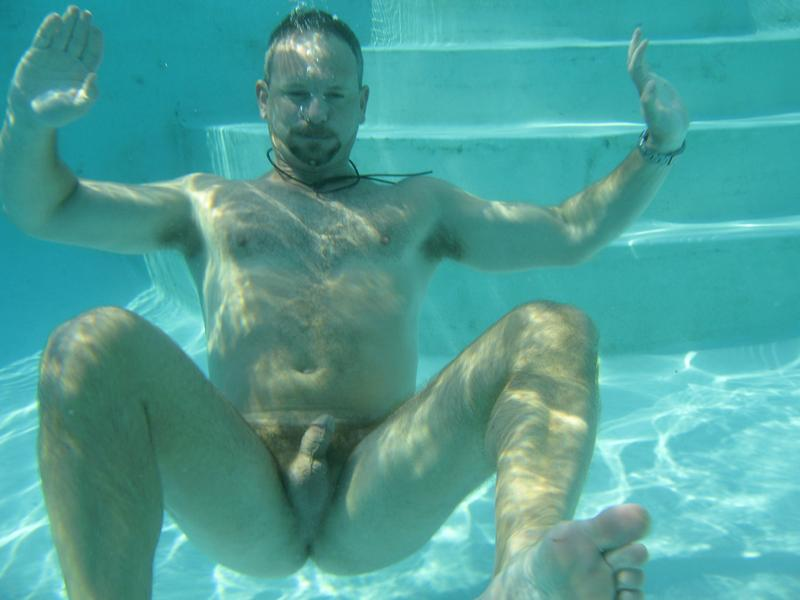 underwater naked male
