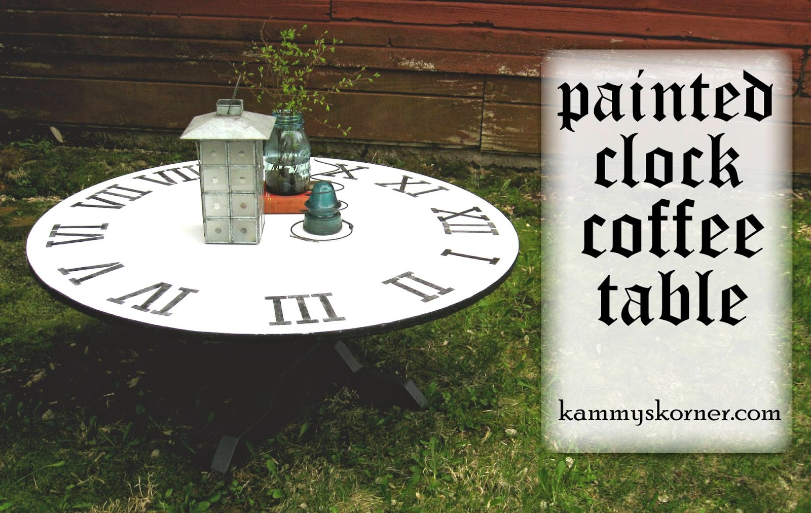 Kammys korner painted clock coffee table painted clock coffee table geotapseo Image collections
