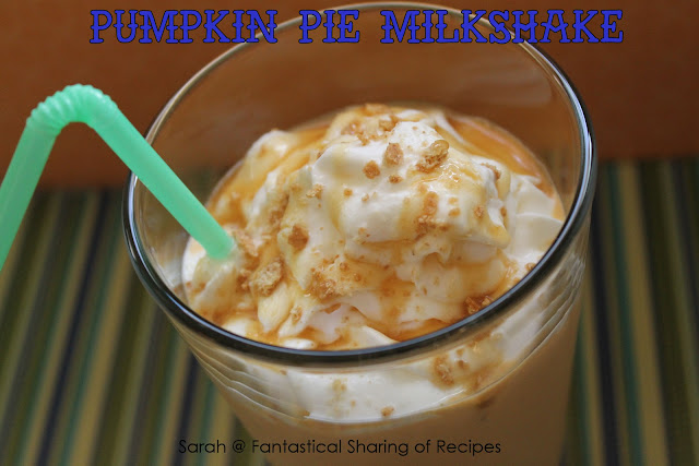 Pumpkin Pie Milkshake - almost pumpkin pie, almost guilt-free! #pumpkin #milkshake #drink #beverage