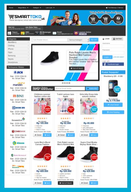 Download theme toko online wordpress