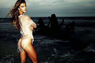 Nina Agdal in Sheer Transparent Wet Clothes Full Nude Almost WOW Leaked Hot Pics