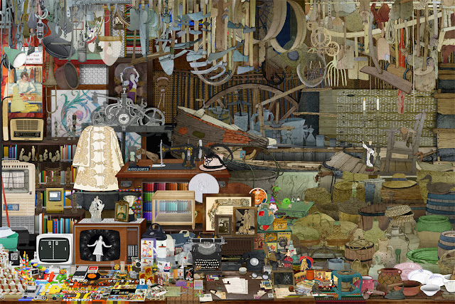 objetos, colecciones, museo, etnologia, dibujo