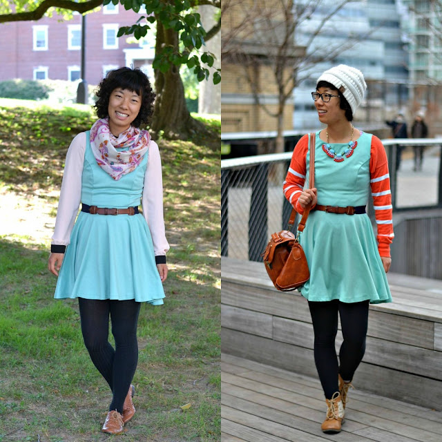 mint skater dress ways to style