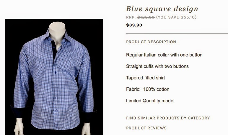 S!R Mens Wear Blue Square Design Dress Shirt For LA