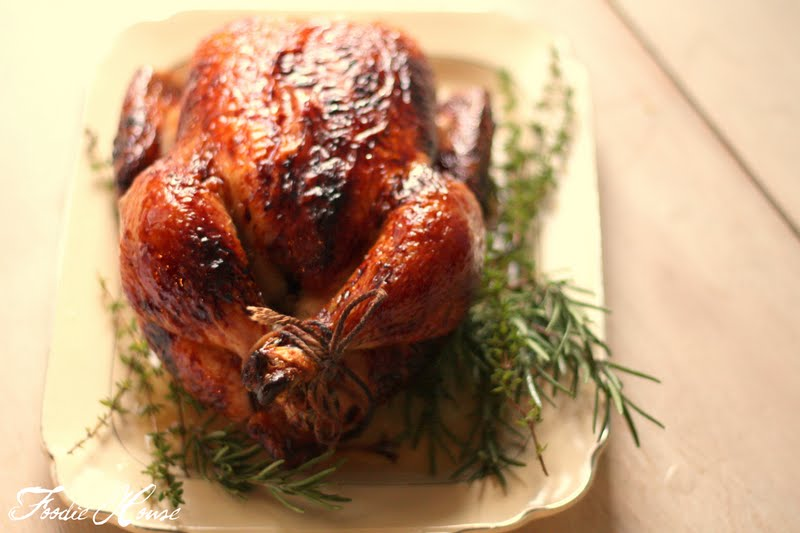 ... House: Pour Some Sugar on Me: Brined, Roasted and Honey-Glazed Chicken