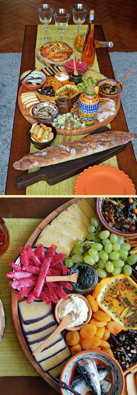 Primeira tábua de queijos da Primavera