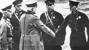 Von Hammerstein durante una visita al Ejército Rojo a principios de los años treinta