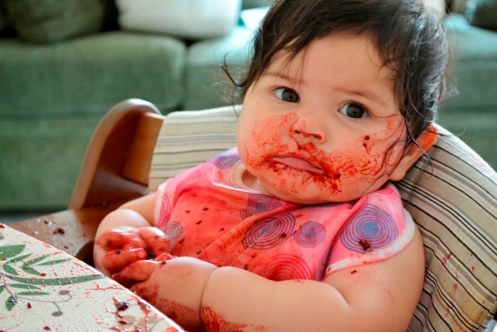 Baby Led Weaning con 9 meses tomate