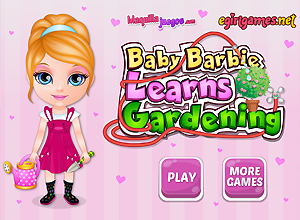 Baby Barbie aprende jardinagem