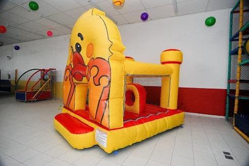 Mine kid Play inflável em forma de patinho