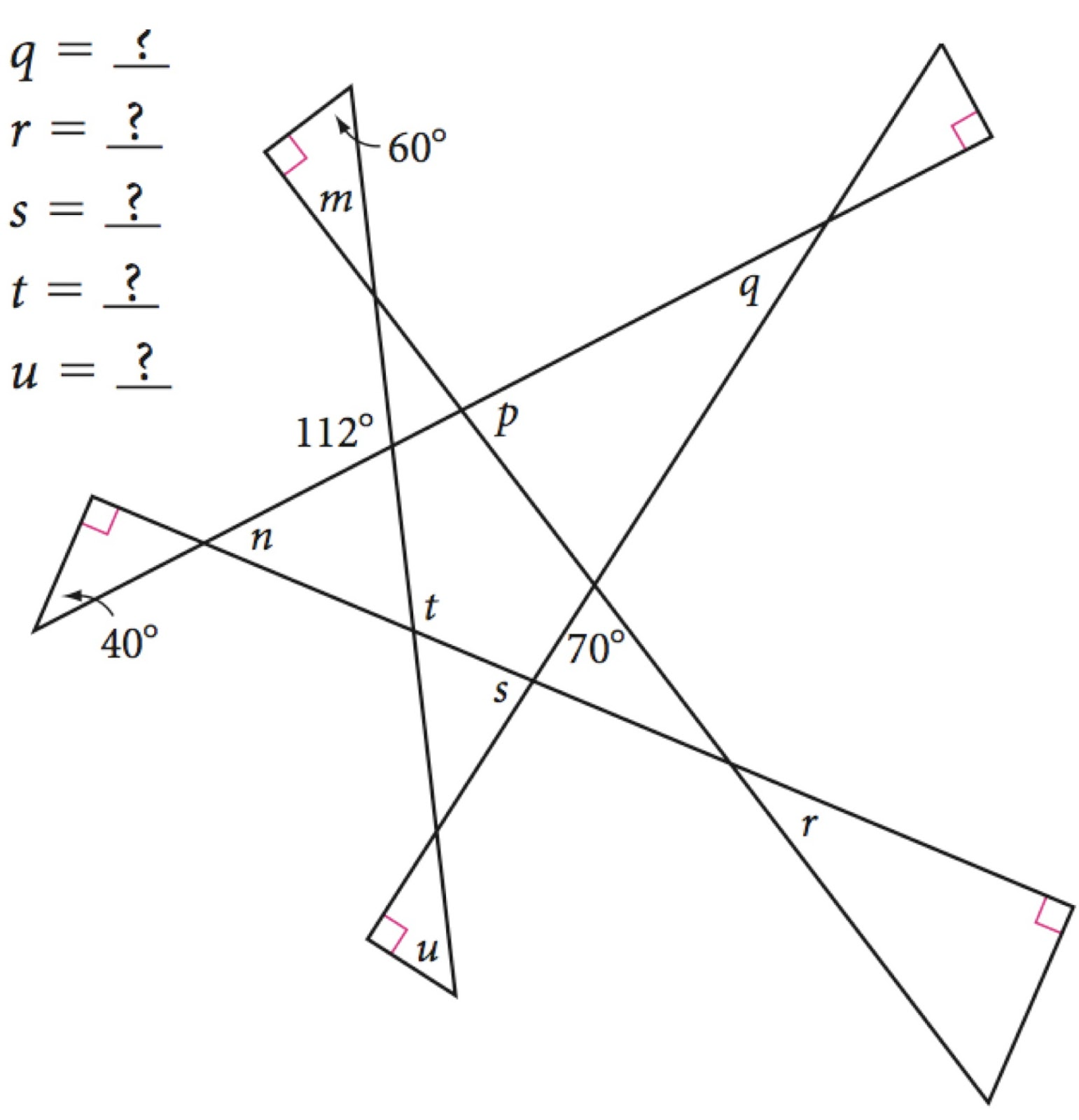 worksheet Geometry Missing Angles Worksheet geometry angles free download of worksheet and images to use on your own pages or quizzes math for sixth grade pinterest