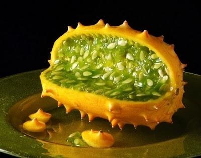 Frutas exóticas y bellas - Kiwano Melón