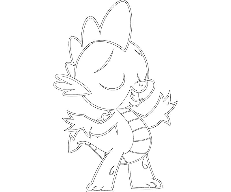My Little Pony Spike Coloring Pages My Pony Spike Coloring Pages