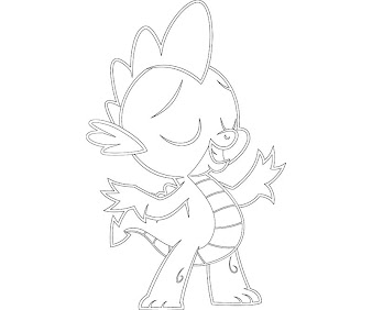 #2 Spike Coloring Page