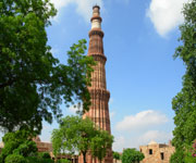 Sandstone Tower of Qutb Minar and its Monuments