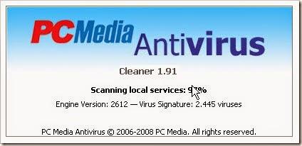 Antivirus PCMedia menggunakan Flashdisk