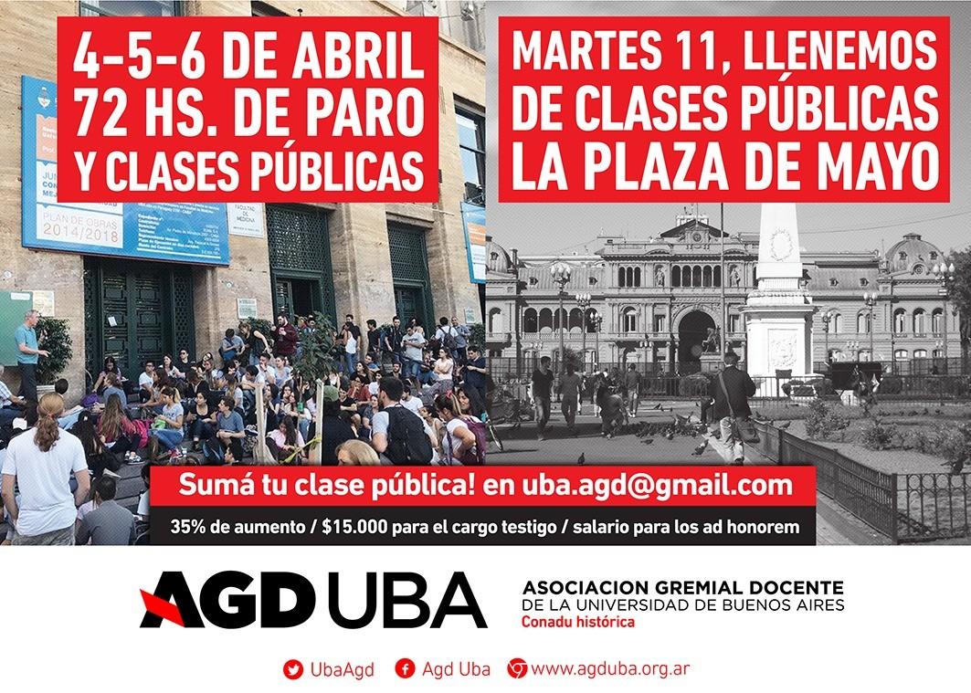 4, 5 y 6 de Abril Paro Nacional
