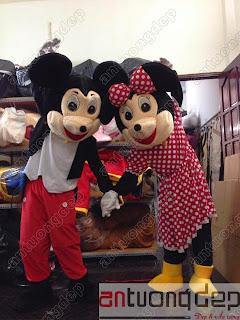 cho thuê thú rối chuột mickey