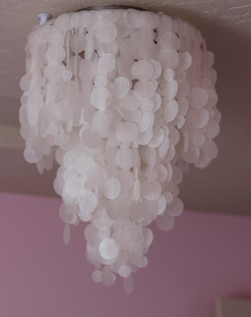 Making house a home diy faux capiz shell chandelier light off in the afternoon aloadofball Images