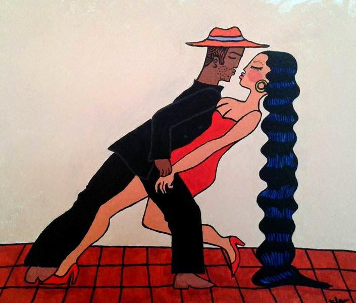 dancers acrilic