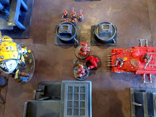40k SW+IK vs Squat - centurions and high king charge forwards