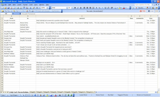 How to use Facebook in Office/Library as Excel data sheet