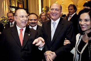 Paulo Maluf com Geraldo Alckmin e Kassab