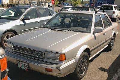 1987 Nissan Stanza GXE Sedan.