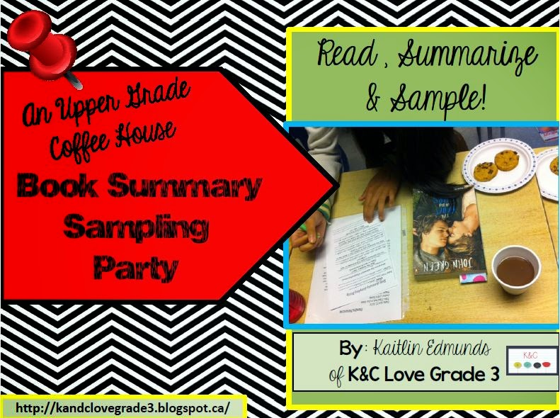 http://www.teacherspayteachers.com/Product/An-Upper-Grade-Summary-Sampling-Party-Coffee-House-1512069