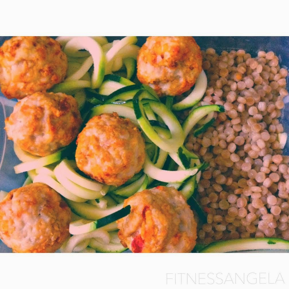 Fitnessangela turkey meatballs and zucchini noodles 21 for Zucchini noodles and meatballs recipe