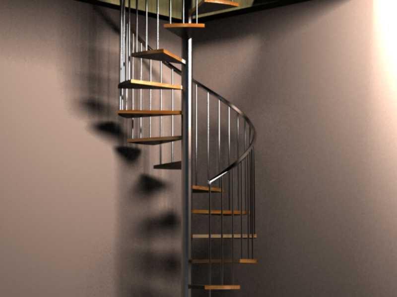 3d javier vilches escaleras de caracol con pelda o de madera for Escaleras 3d max