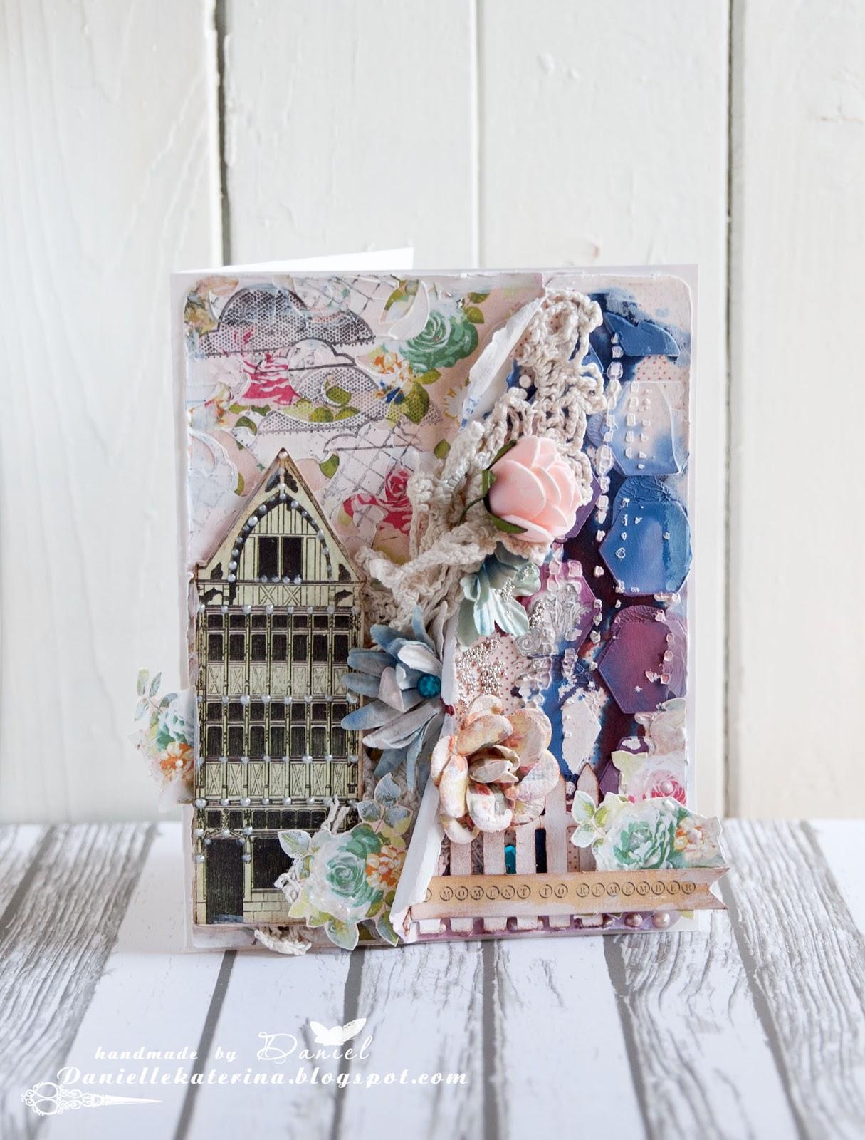 открытка+весна+цветы+сад+ручная работа