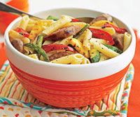 Grilled Sausage and Summer-Vegetable Pasta