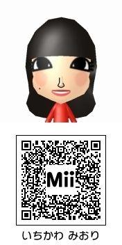 市川美織のMii QRコード トモダチコレクション新生活