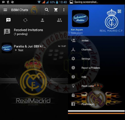 BBM Mod Minimalis Tema Real Madrid Terbaru v2.11.0.16 Clone