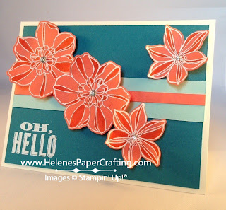 Orange tropical flower card