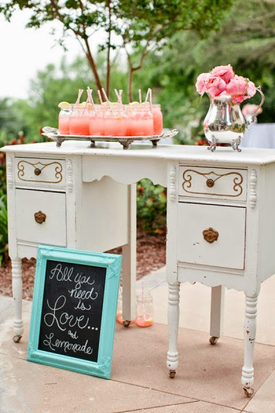 vintage white wedding dresser