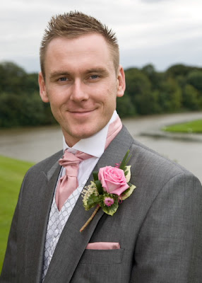 Pleased groom at Wynyard Hall