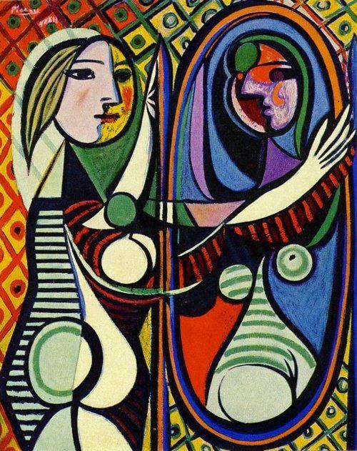 Picasso, Donna allo specchio 1932, olio su tela, New York, MOMA