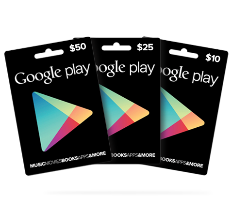 Google Play Gift Card Codes - Redeem $25 $50 For Free