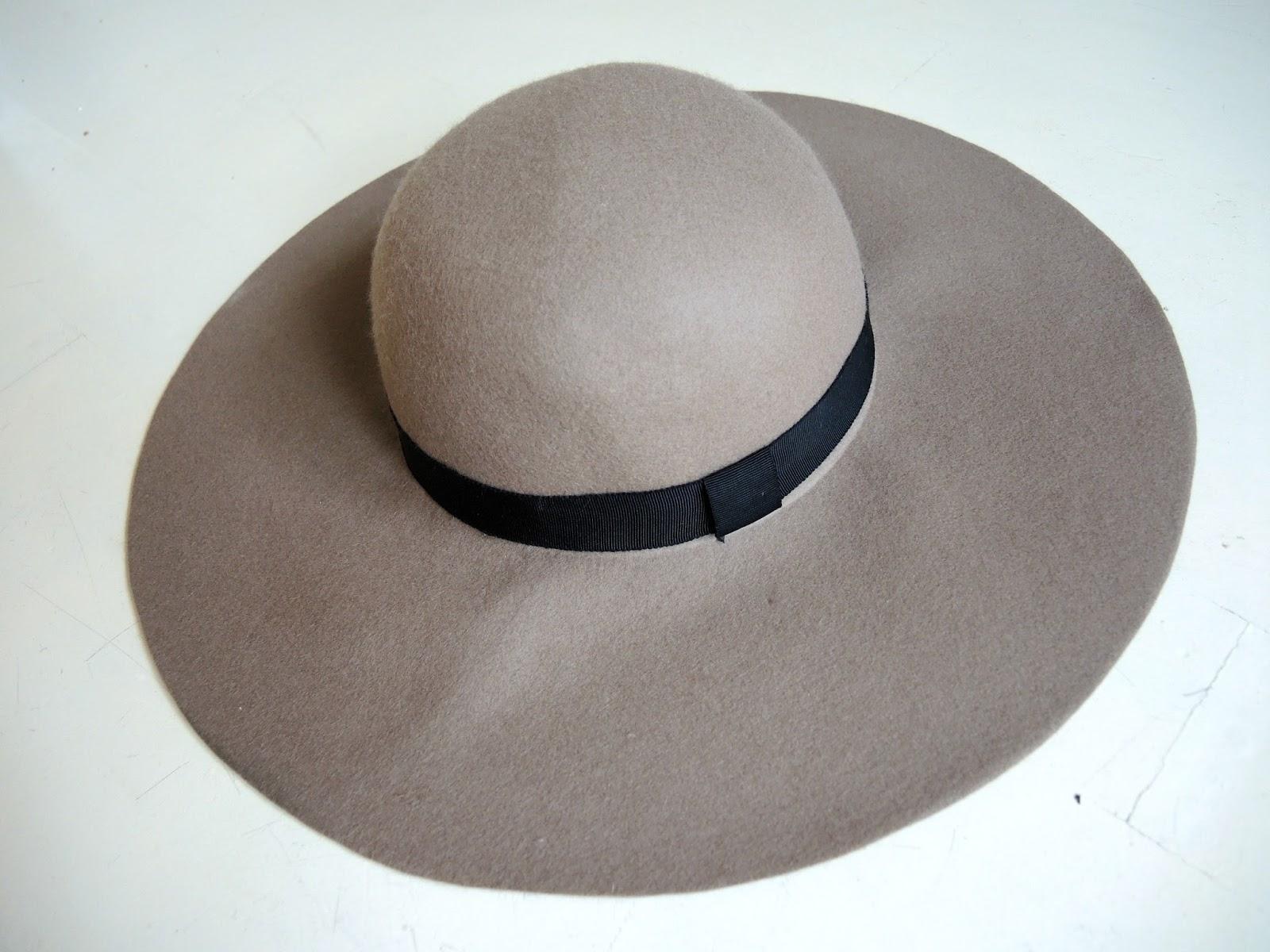 River Island Beige Floppy Fedora Hat