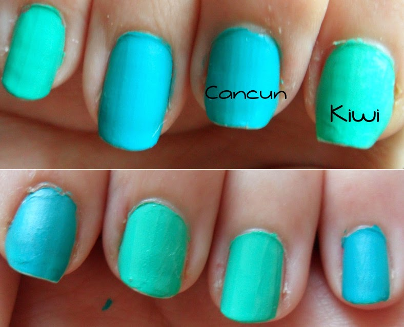 Barry M Cancun Kiwi Swatch