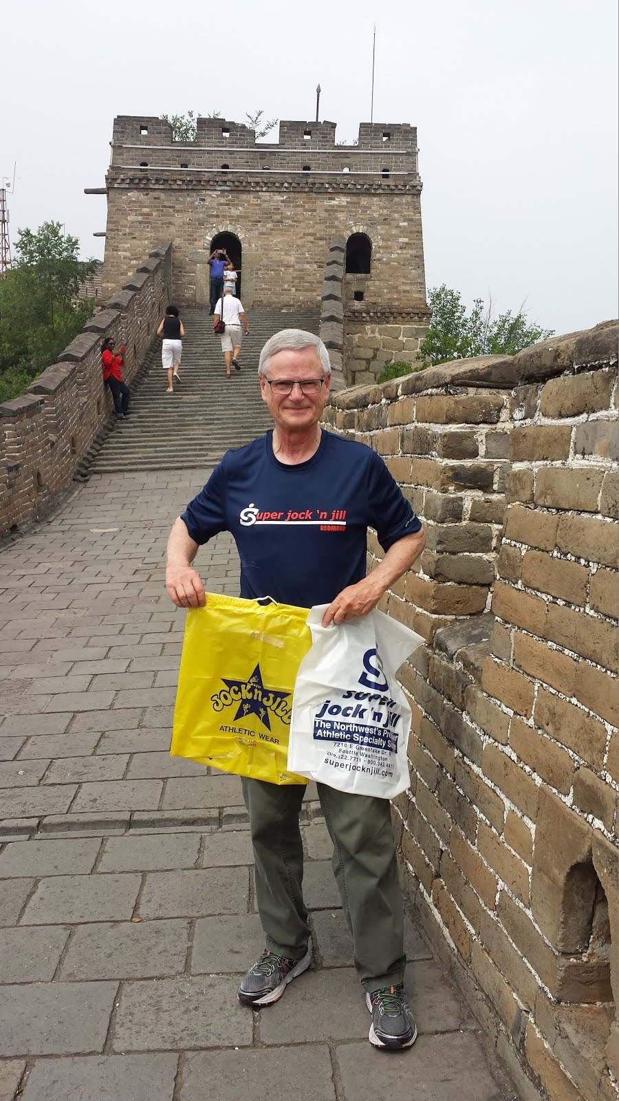 Celebrating Super Jock 'n' Jill's 40th on the Great Wall of China