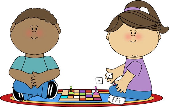 Kids Playing Card Games Clip Art