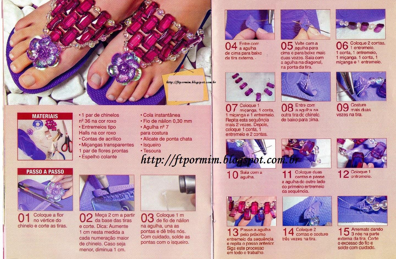 Aprenda a fazer chinelos customizados