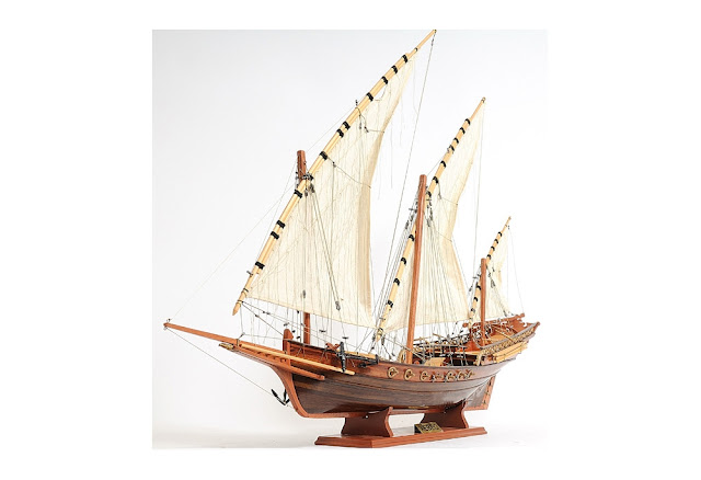 Xebec Wooden Model Ship