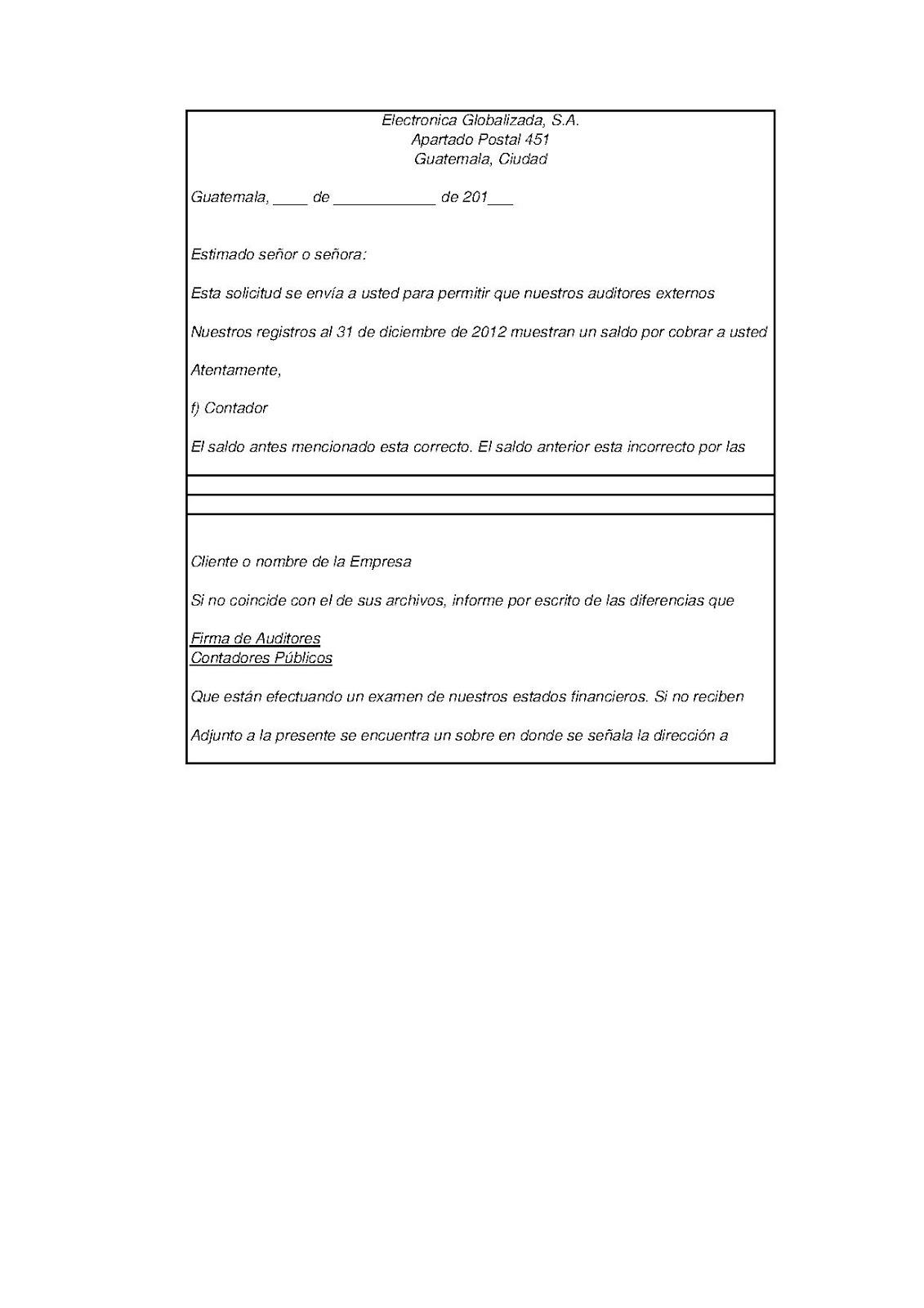 PT CUENTAS POR COBRAR | Universidad Rural - Auditoria