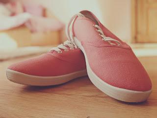 Shoes, nail polish