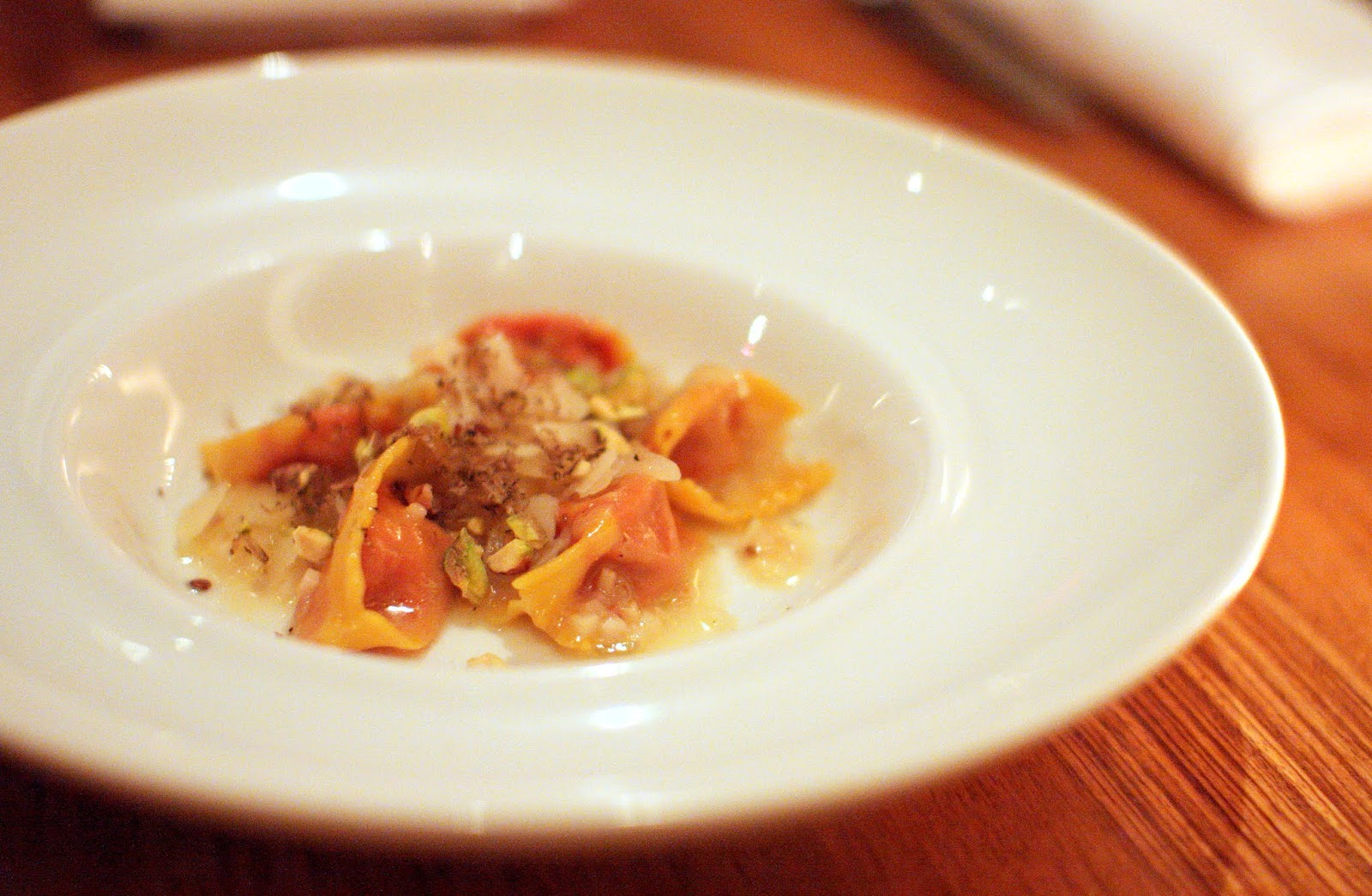 Pistachio, Celeriac, Butter Braised Vidalia Onions, Grana Padano